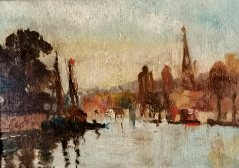 Jean Paul Pepin (Canadian, 1897-1983) 'The Lachine Canal' dated 1915