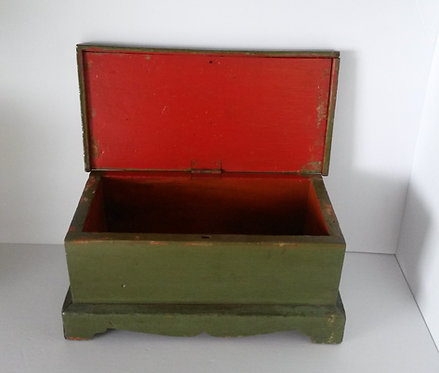 A 19th C Canadian pine document box, York County, Ontario c1840