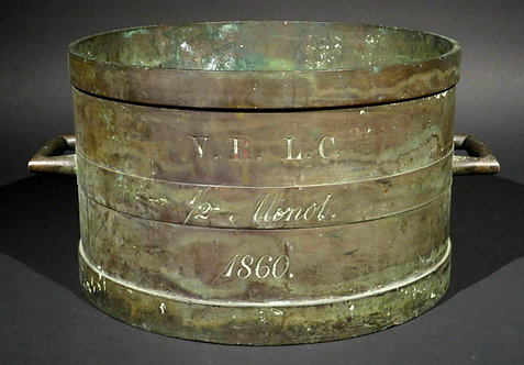 An Important Pre-Confederation Lower Canada VRLC bronze measure, dated 1860