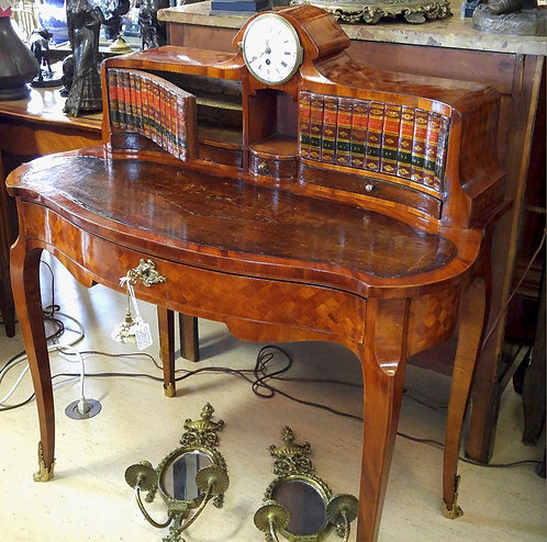 A late 19th C European bronze & marquetry desk from Schloss Leopoldskron