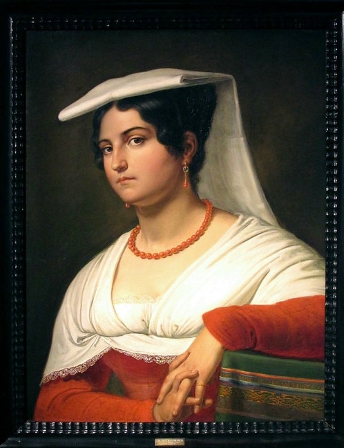 Friedrich Moosbrugger (1804-30) Portrait of an Italian Woman, 1827