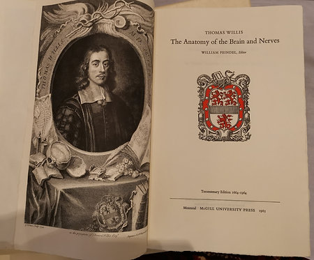 "Two vol. set of ""The Anatomy of the Brain and Nerves"" by Thomas Willis 1664-1964"