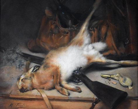 Michel Fronti (French, 1862-1936) 'Still Life with Hare' circa 1900