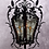 Thumbnail: A French 19th C scroll work wrought iron and leaded light lantern, circa 1870