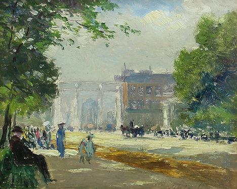 Frederic Marlett Bell-Smith (Canadian 1846-1923)  Hyde Park, London
