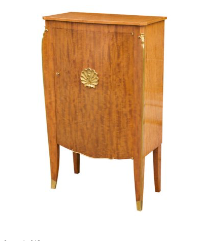 Mahogany cabinet by Jules Leleu, designed by Debarre & executed by Perret
