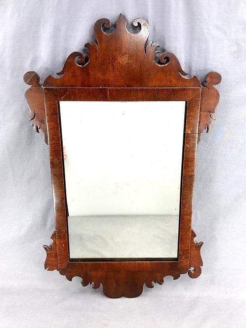 A small mahogany Chippendale mirror, found in Cape Breton Nova Scotia