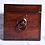 Thumbnail: A Regency mahogany two division tea caddy with mixing bowl, c1810
