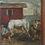 Thumbnail: Camille Liausu (French 1894-1975) 'Les bohémiens' oil on canvas, c1920