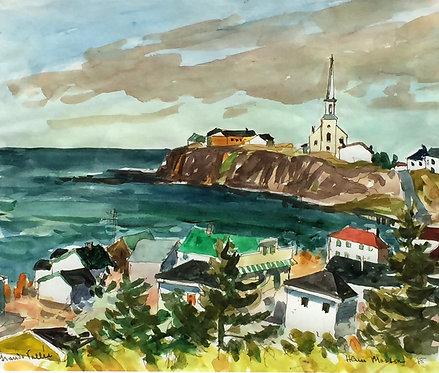 Henri Leopold Masson (Canadian 1907-1996) Grande Vallee, Quebec