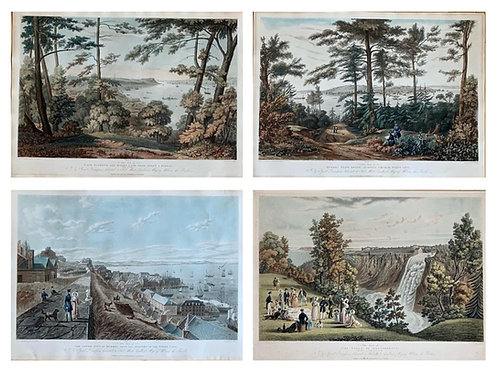 After James Pattison Cockburn, hand coloured engravings 'View of Quebec' c1834