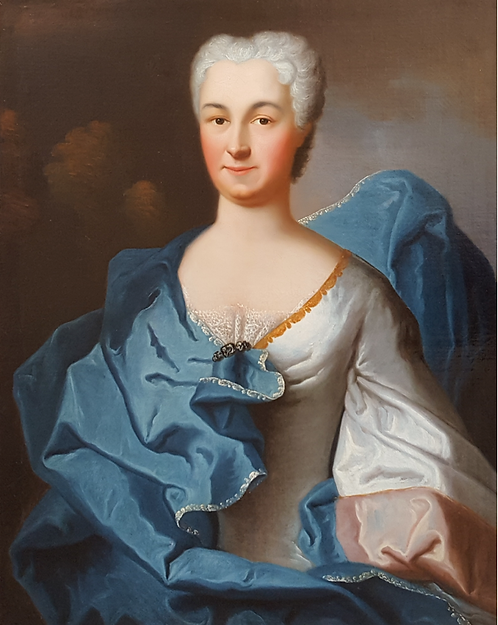 Charles Baziray (French c.1690-1757) Portrait of the Countess of Flers, 1734