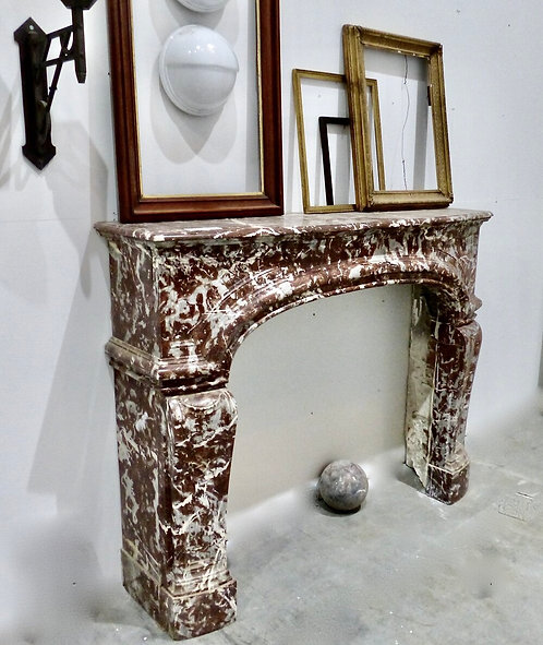 An extraordinary 19th C Louis XV Belgian marble fireplace surround mantel