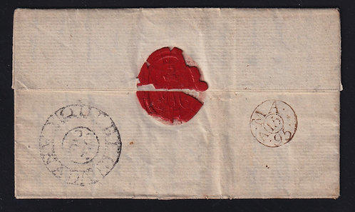 Canada 1795 Stampless folded letter with QUEBEC BISHOP MARK