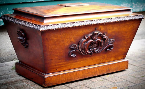 A fine Regency period mahogany sarcophagus style cellarette, circa 1830