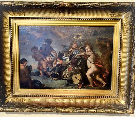 Leger Cherelle (French 1816-1867) Des Enfants traînant un chariot, 1839