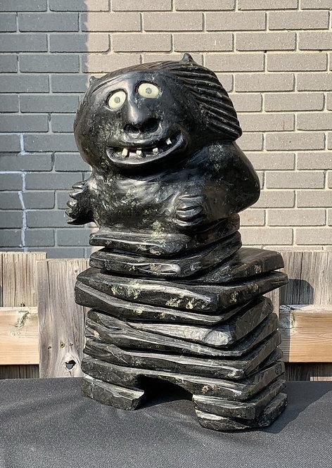 Nelson Takkiruq (Gjoa Haven) 'Inukshuk Man' circa 1990