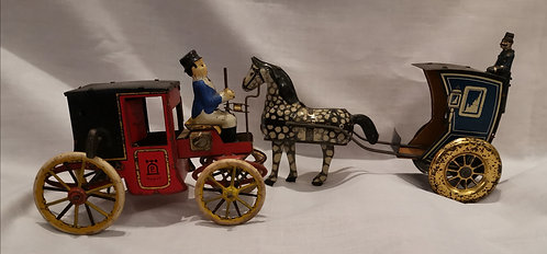 Late 19th C / early 20th C Lehmann, Germany tinplate wind-up toys