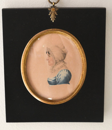 An early 19th C miniature folk portrait of 'Old Anne Bisset'