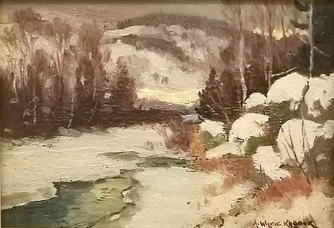 A. Wilkie-Kilgour, RCA (1868 - 1930) 'Evening, A Northern River' c1922-3