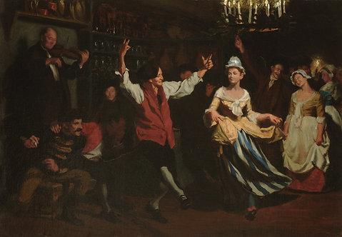 Benjamin I. Vauiter (Swiss 1829-1898) Evening Revelry