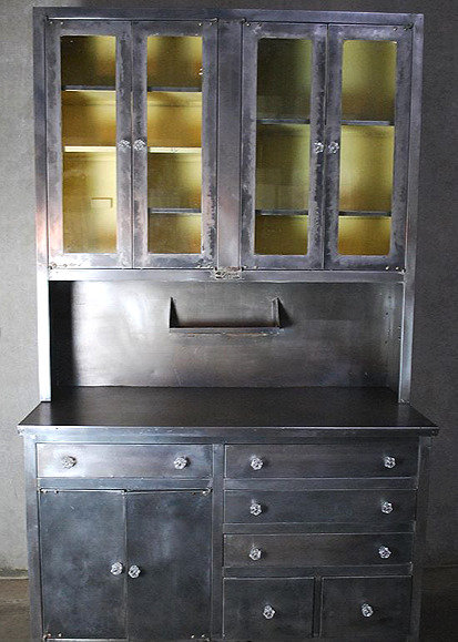 A rare 'White House' steel kitchen cabinet made by Janes & Kirtland of NY, c1920