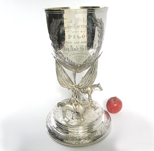 Robert Hendery (Canadian, 1814-1897) 'The Garrison Cup' silver trophy
