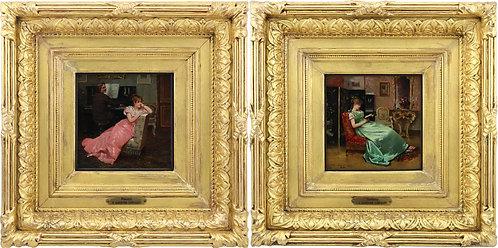 Victoriano Codina Y Langlin (Spanish 1844-1911)  Harmony & Discord, 1878 & 1879