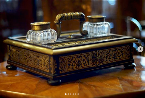A 19th C French Boulle inkstand, circa 1850-1890