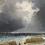 Thumbnail: Émile Godchaux (1860-1938) 'Stormy coast' oil on canvas, c1890
