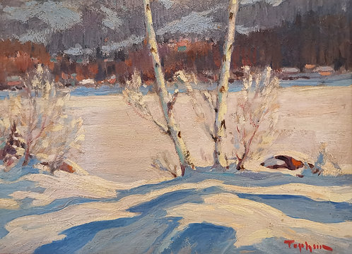 William Thurston Topham. R.C.A. (Canadian 1888-1966) Val Morin, Winter