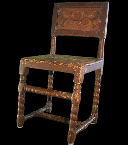 Early 18th C French Canadian fauteuil, Pierre Morin, La confrérie de Sainte-Anne