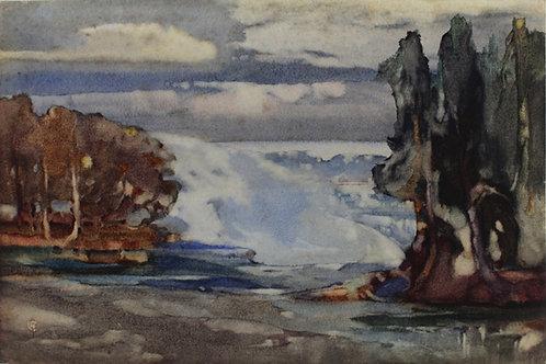 Charles John Collings (Canadian 1848-1931)  Sprays at Niagara