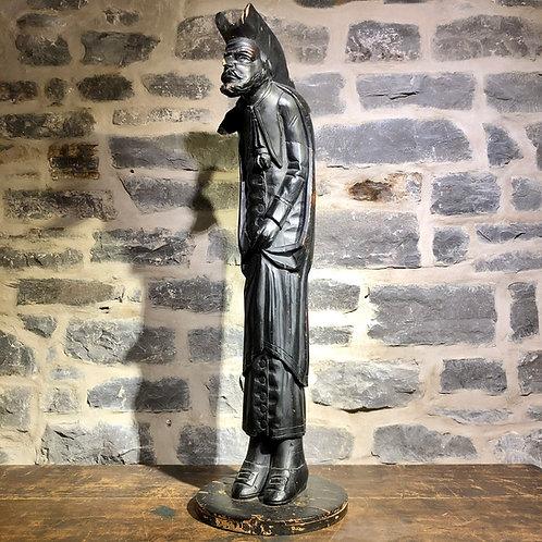 Jean Baptiste Coté (Quebec, 1832-1907), Sculptural carving of a priest, c1868-80