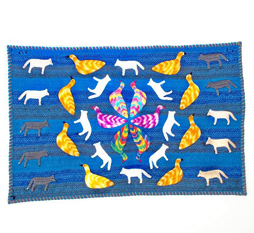 A splendid Inuit wall hanging by Winnie Tatya from Baker Lake, c2003