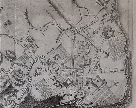 "Views of Quebec City ""Plan du Bassin"" & ""Plan de la Ville"", Nicolas Bellin 1744"