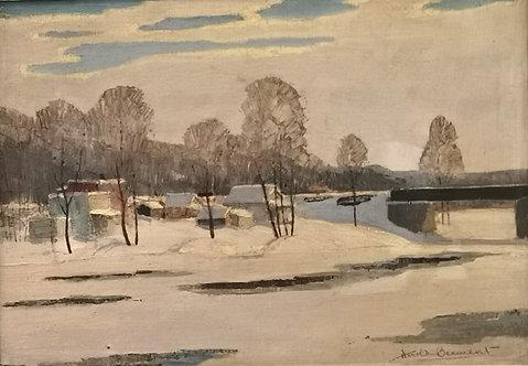 Harold Beament (Canadian, 1898 - 1984) 'Railway bridge, St Rose'