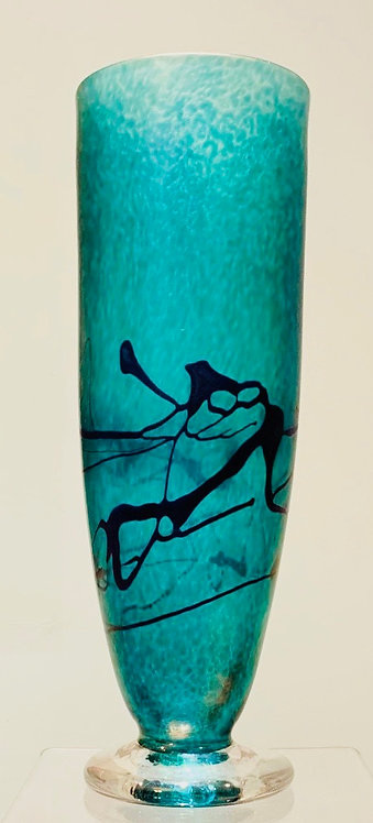 Late 20thC Iridescent glass vase by Robert Held (Canadian, b.1943)
