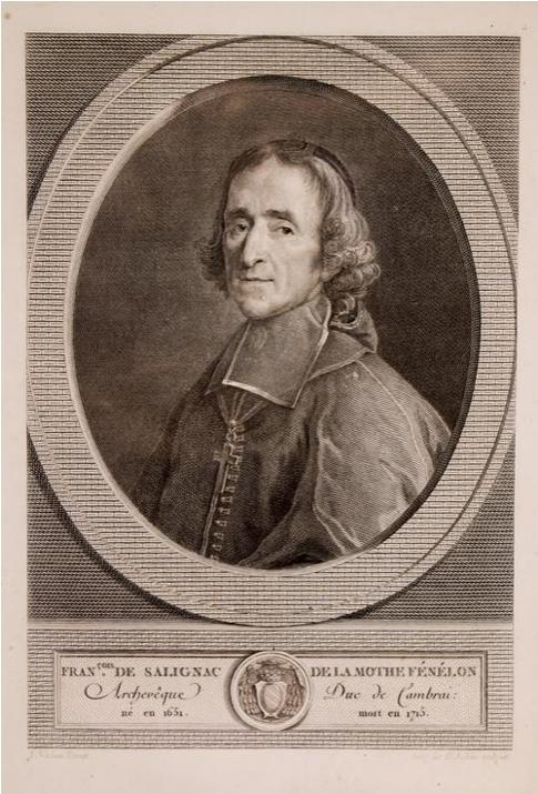 Augustin de Saint-Aubin (1736-1808) 'Portrait of François Fénelon', 1783