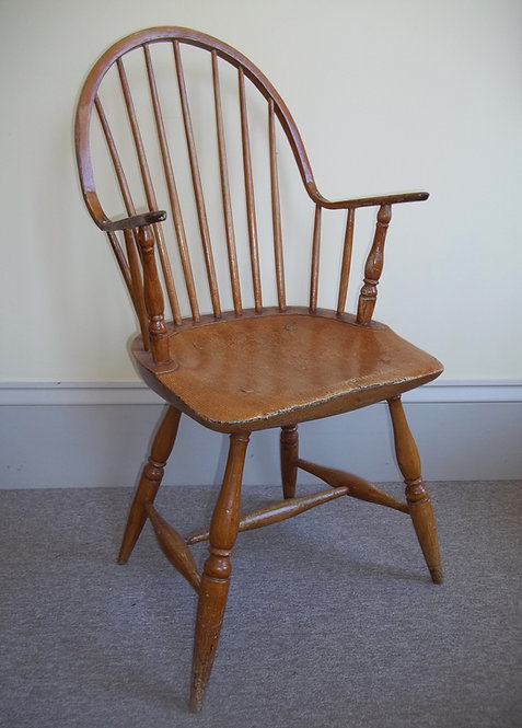 A 19thC Canadian continuous arm Windsor chair in untouched condition