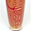 Thumbnail: A vibrant red Murano glass vase, inset with gold leaf inclusions