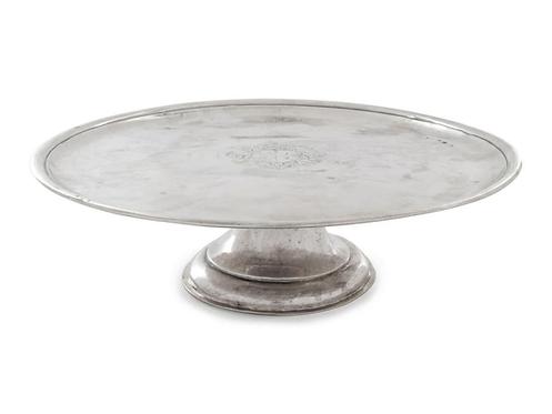 A fine George I Britannia silver cake dish, Jos. Ward, London, 1718