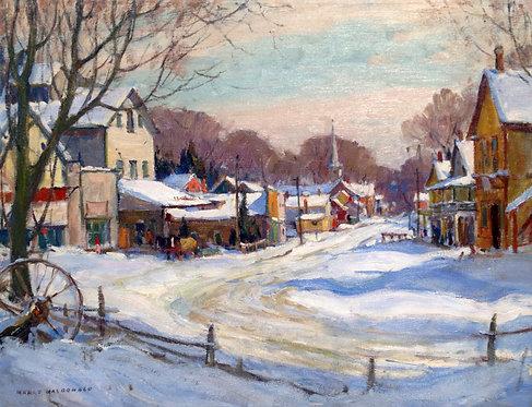 Manly E MacDonald (Canadian 1889-1971) Warkworth, Ontario, c1930