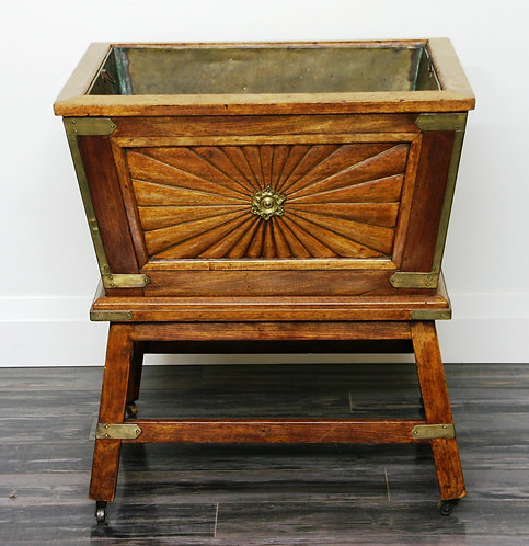 An early 19th C Regency mahogany wine cooler with copper liner, c1830