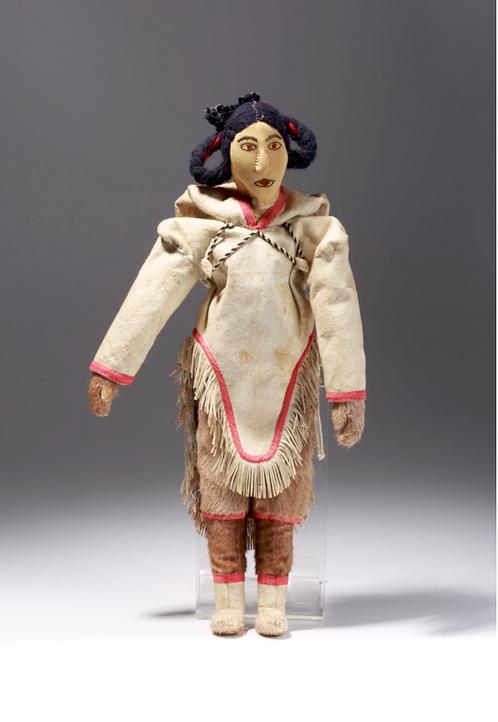 Unidentified artist, Qamani-tuaq (Baker Lake) 'Doll with plaited hair', c1980s