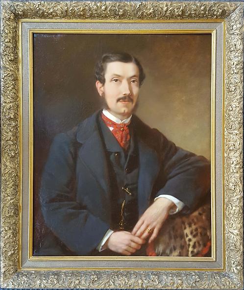 Franz Sterrer (Austrian 1818-1901) 'Portrait of a Gentleman' oil on canvas, 1863