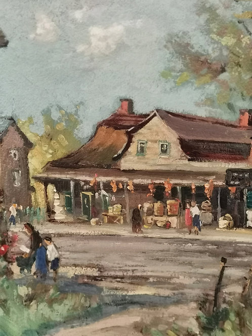 Joseph Giunta RCA (Canadian, 1911- 2001) 'Basket Vendor, Caughnawaga' circa 1950