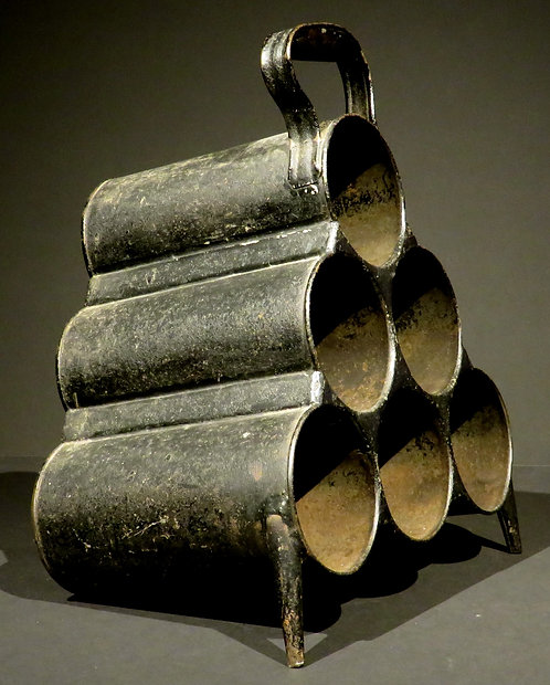 A very rare early 19th C Irish zinc wine bottle carrier by J Hodges & Sons c1840