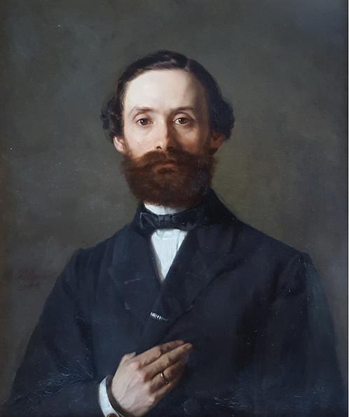 Edmund Blume (1844-1910) 'Portrait of a Gentleman' oil on canvas, dated 1868