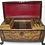 Thumbnail: A Regency period penwork decorated tea caddy, English, c1830